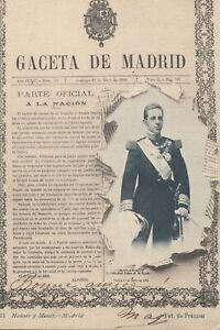 Postal-Espagne-Madrid-Gazette-Du-pour-Madrid
