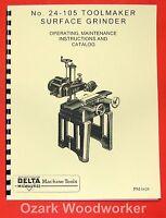 Delta-milwaukee Toolmaker Surface Grinder 24-105 Instruction & Parts Manual 0243
