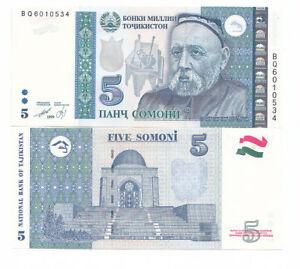 Tajikistan-5-somoni-1999-FDS-UNC-Pick-20-rif-4342