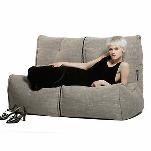 Super Details About Double Bean Bag Indoor Twin Couch Beige Sofa Bean Bag Modular Highly Affordable Forskolin Free Trial Chair Design Images Forskolin Free Trialorg