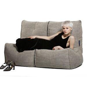 Bean Bag Indoor Twin Couch Beige Sofa
