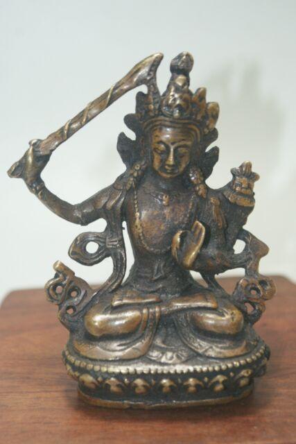 China Old Tibet Tibetan Buddhism tara buddha statue GuanYin old Copper statue A7