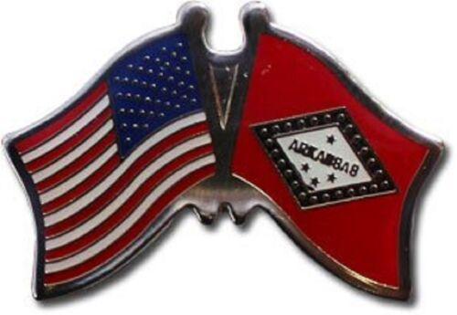 USA American Arkansas Friendship Flag Bike Motorcycle Hat Cap lapel Pin