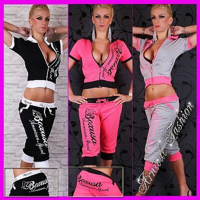 NEW sexy 2 PIECE TRACKSUIT SETS FOR women ACTIVE WEAR JOGGING GYM WORKOUT YOGA
