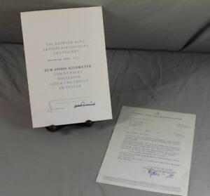 Mercedes Anschreiben Von 1967 /18 Mit Orig 250.000 Km Frank Daimler Benz Urkunde F