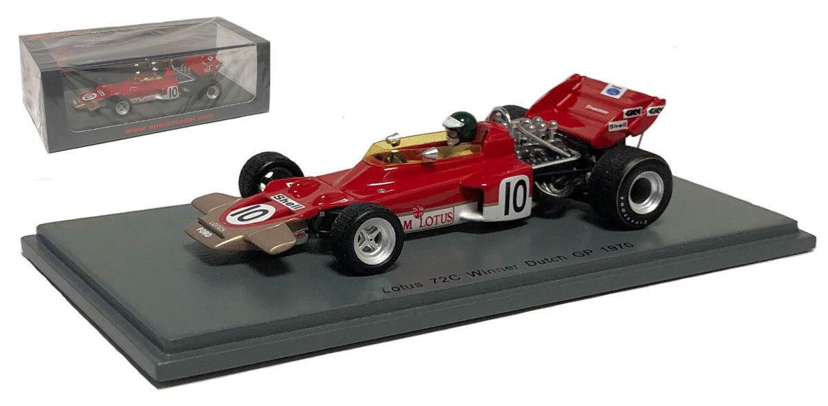 SPARK S4280 Lotus 72 C Dutch GP 1970-Jochen Rindt Champion du monde échelle 1 43