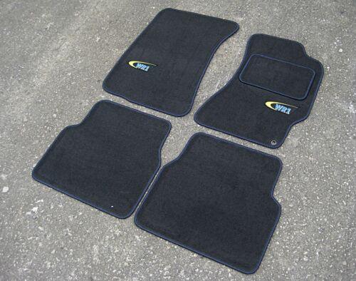 Azul Marino Ajuste-Subaru Impreza + WR1 Logos Gris Oscuro Super Terciopelo Esteras de Coche 01-06