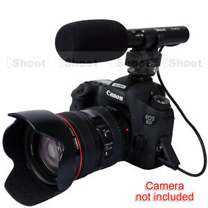 Pro-DC-DV-Stereo-Microphone-MIC-for-Hot-Shoe-Digital-Camera-Video-Camcorder