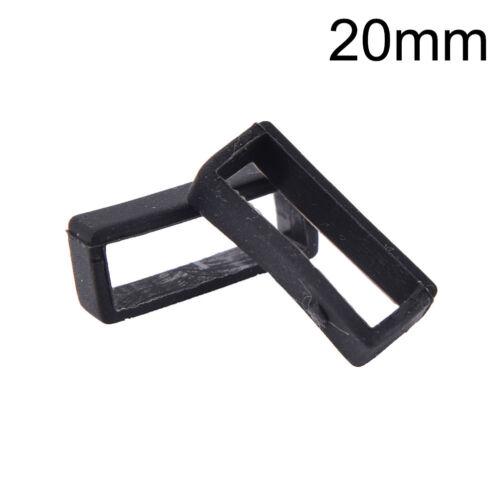 2x caoutchouc silicone bracelet montre bande boucle porte-casier gardien
