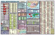 AMATEUR HAM RADIO DATACHART EX LG GENERAL INFORMATION & DX DATA / EXTRA  LARGE