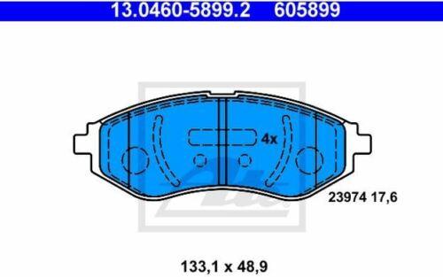 Mister Auto 4x ATE Bremsbeläge vorne für CHEVROLET KALOS AVEO 13.0460-5899.2
