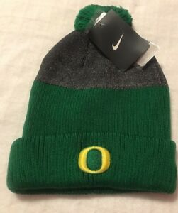Image is loading Nike-Oregon-Ducks-EMBROIDERED-Sideline-Cuffed-Knit-Beanie- 8287003a318