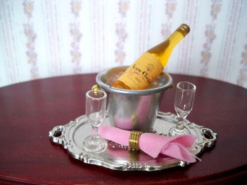 01 1:12 champagne couvert pour 2 personnes