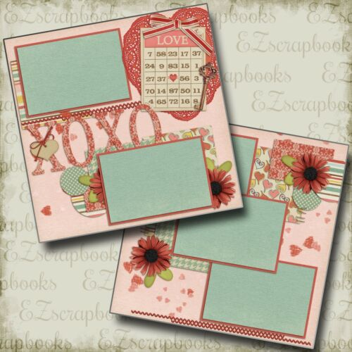 SWEET VALENTINE - 2 Premade Scrapbook Pages - EZ Layout 761