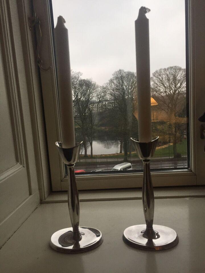 2 Sølvplet lysestager, Cohr design Svend Toxværd