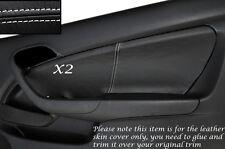 WHITE STITCH 2X DOOR CARD SKIN COVERS FITS HONDA INTEGRA DC5 ACURA RSX 02-06