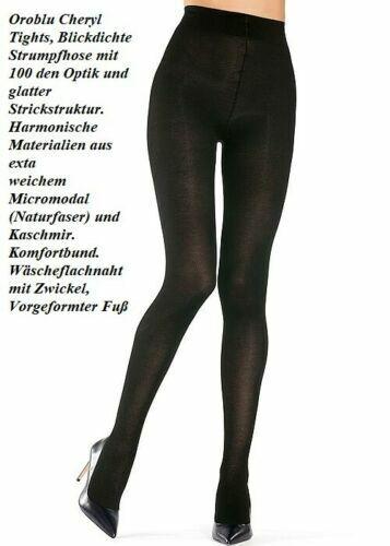 Oroblu Cheryl Strumpfhose, 100 DEN blickdicht glatt Mikromodal, schwarz M=40-42