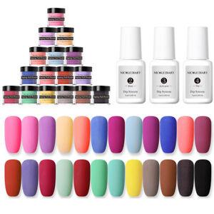NICOLE-DIARY-10g-Nail-Dipping-Powder-Matte-Natural-Dry-Nail-Art-Decoration-No-UV