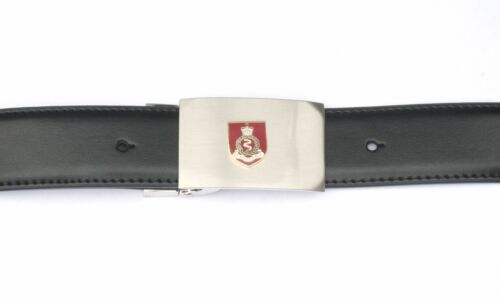 RAMC Royal Army Medeical Corps British Buckle and Belt Set Black Leather BKG9