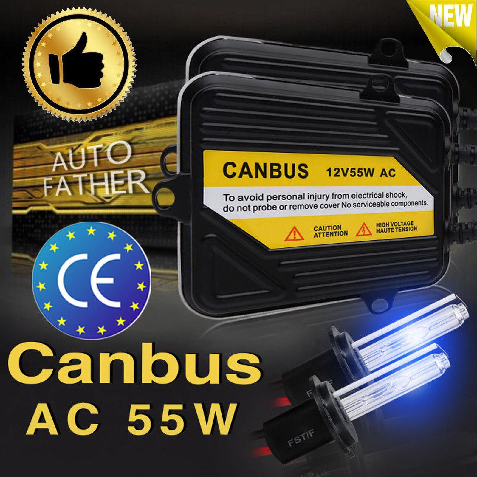 2xAC 55W CANBUS ERROR FREE HID SLIM Ballast Headlight H4 H1 H3 H7 H11 9005 9006