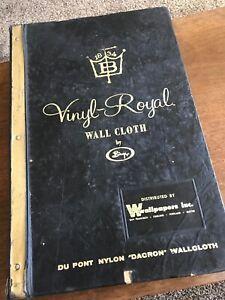 1964-Vintage-Vinyl-Royal-Wall-Cloth-by-Binge-Wallpaper-Sample-Book-55-Pages
