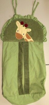 Nojo Jungle Green Diaper Stacker Unisex Giraffe No Cardboard Vguc Durable Modeling