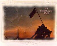 U.s. Steel Cents - Iwo Jima, 2x3 Snap Lock Coin Holders, 3 Pack