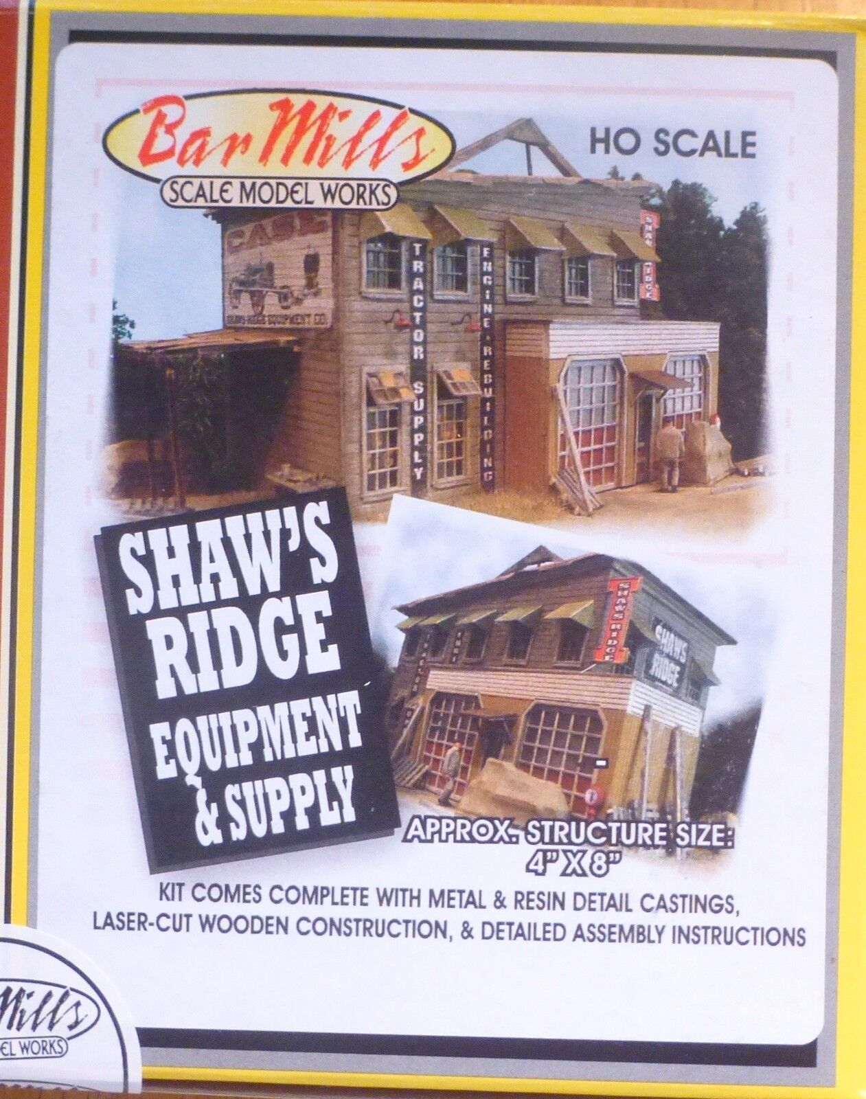 Bar Mills  532  HO Scale  Shaw's Ridge Equipment & Supply -- Kit - 4 x 8  10.2