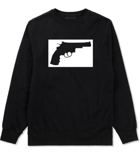 Kings Of NY Gun Silhouette Style Crewneck Sweatshirt Revolver 45