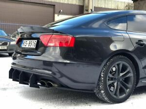 Diffuser-for-Audi-A5-S5-B8-rear-s5-s-line-Bumper-lower-Spoiler-add-on-RIBS