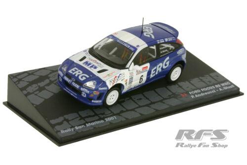 Ford Focus RS WRC-andreucci-rally de san marino 2001-1:43 al 2001-sm-006i