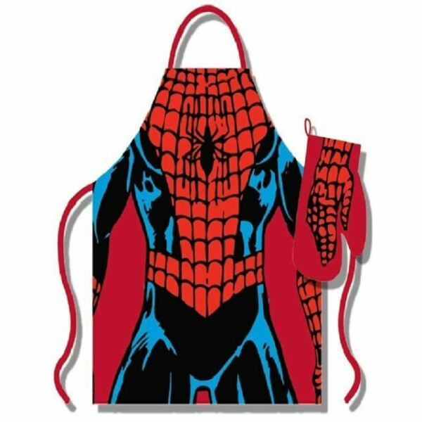 Marvel Official Iron Man Apron and Oven Glove Set