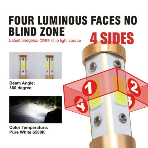 9012 HIR2 LED Headlight Bulbs Conversion Kit CREE 1900W 285000LM 6000K Hi//Lo Fog