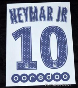 PARIS St Germain Neymar Jr 10 Camiseta De Fútbol Nombre nombre Set ... b63022f316936