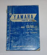 Ersatzteilliste / Spare Parts List Yamaha XS 750 / XS750 '77 Stand 11/1976