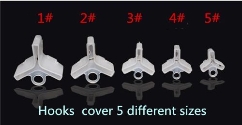 250 pcs Treble Hooks Safety Cover  Case-5 different size