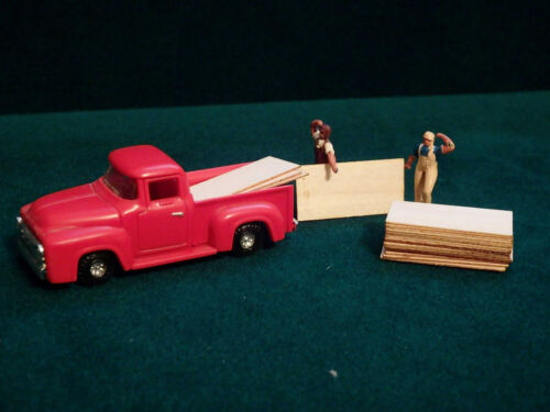 20 HO Scale 4' x 8' Sheets Plywood Lumber Loads Construction Site Wood Laser Cut