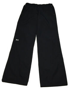 UNDER-ARMOUR-Womens-Size-Small-Activewear-Track-Pants-Mesh-Lined-Black