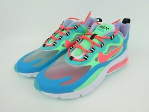 Nike Air Max 270 React Womens Size 10 Blue Green Pink White At6174