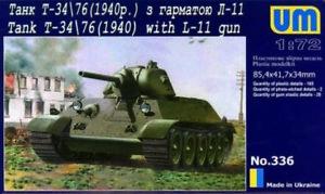 Unimodels Um336 - 1:72 T-34/76 With Gun L-11 (1940)