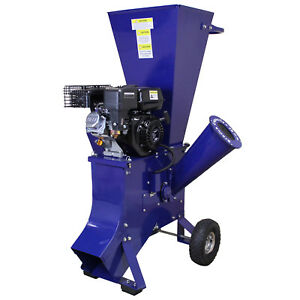 6.5HP Wood Chipper Petrol Garden Tree Commercial Timber Brush Branch Shredder 5055986113768