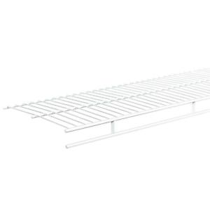 Closet Shelving Bedroom Laundry Storage Organizer White Wire Shelf
