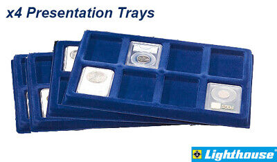 6 Certified Coin Display Presentation Trays Lighthouse TAB8USKBL 8 Slabs Storage