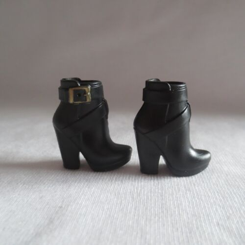NEW Barbie The Look Urban Jungle Doll Black Ankle Boots Model Muse Shoes Clothes