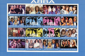 Chad-2018-CTO-ABBA-16v-M-S-Music-Pop-Stars-Celebrities-Stamps