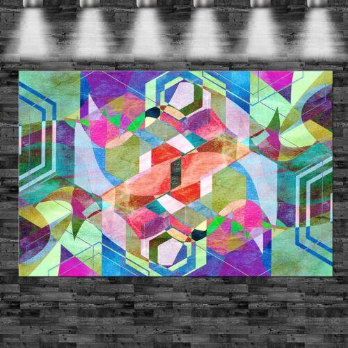 XXL Abstrakte Formen bunt 160x105cm auf Leinwand Keilrahmen Loft