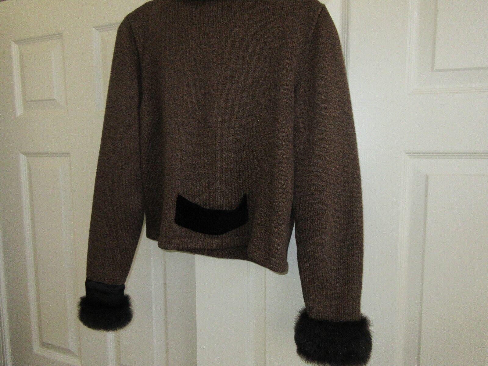 Jamie Kreitman , Ladies Jacket , Synthetic Fur Trim , S