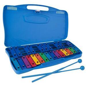 Ravel-Glockenspiel-Kid-039-s-25-Note-Xylophone-Bells-w-Molded-Case
