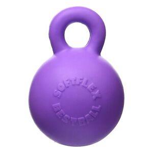 Hueter-Toledo-Soft-Flex-Gripper-Ball-Squeaker-Dog-Toy-Purple-4-5-034-x-6-034