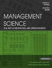 Management Science: The Art of Modeling with Spreadsheets, Baker, Kenneth R., Po
